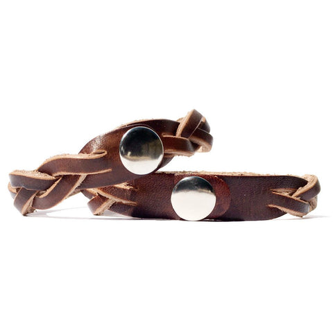 His Angel & Her Soldier Leather Bracelets (Pair) - Love Chirp Gifts