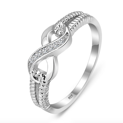 The Kayla Sterling Silver Infinity Ring - Love Chirp Gifts