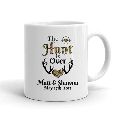 The Hunt is Over Personalized Mug - Love Chirp Gifts