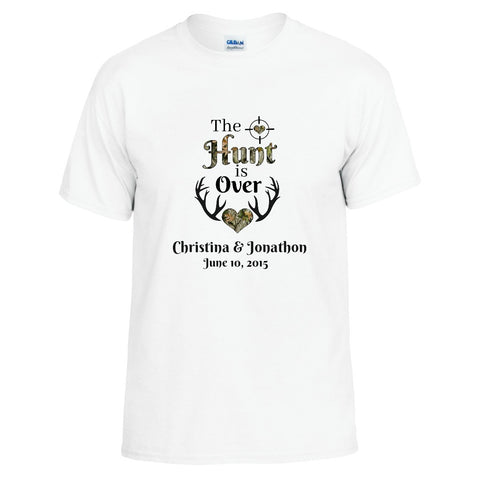 The Hunt is Over Personalized with Your Names Unisex T-shirt - Love Chirp Gifts