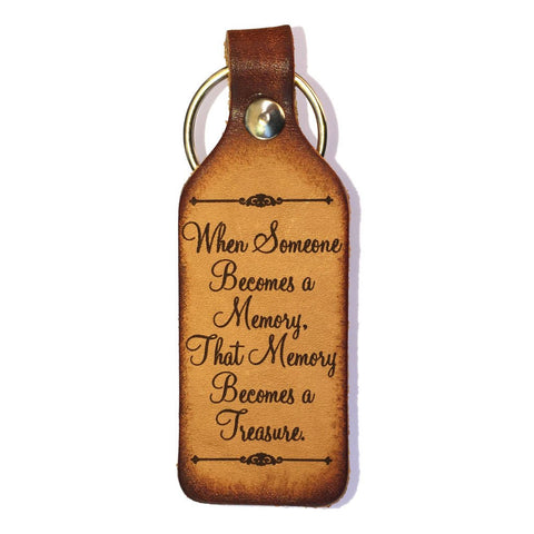 When Someone Becomes a Memory Leather Keychain