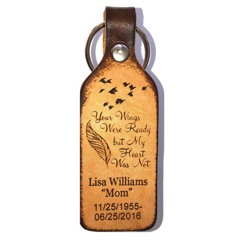 Your Wings Were Ready Leather Keychain - Love Chirp Gifts
