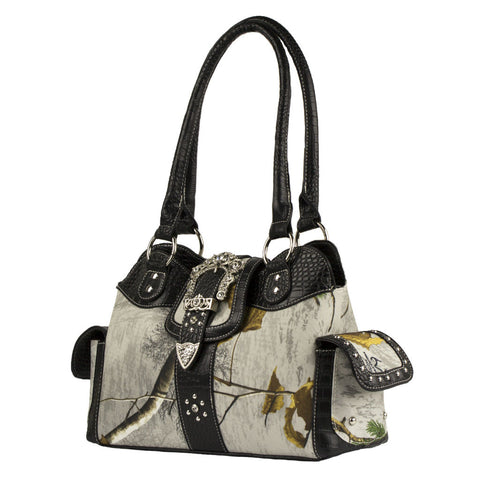 Realtree Blinged Out  Camo Handbag in Snow White - Love Chirp Gifts