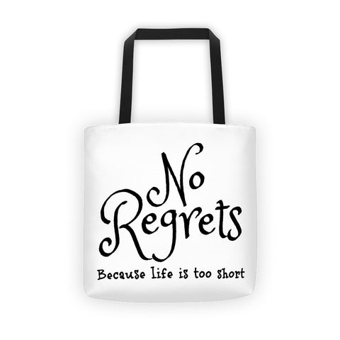 No Regrets Tote bag - Love Chirp Gifts
