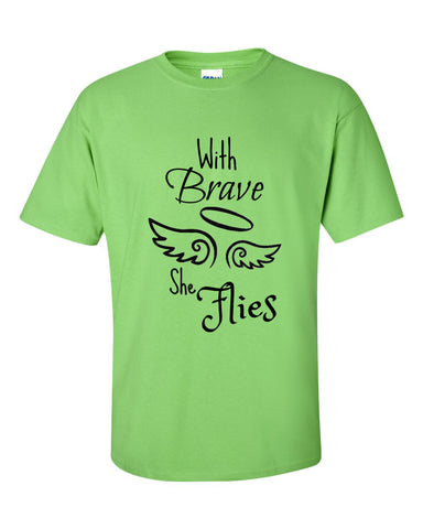 Brave Wings She Flies T-Shirt - Love Chirp Gifts