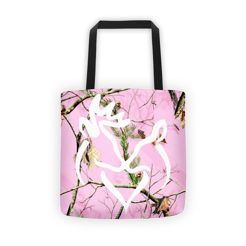 Buck and Doe Pink Camo Tote bag - Love Chirp Gifts