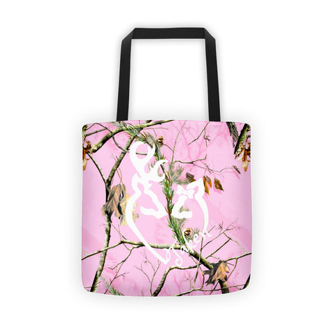 Taken Buck and Doe Pink Camo Tote bag - Love Chirp Gifts
