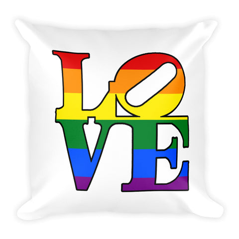 Rainbow Love Pillow - Love Chirp Gifts