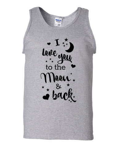Moon and Back Tank top - Love Chirp Gifts