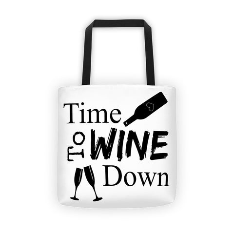 Wine Down Tote bag - Love Chirp Gifts