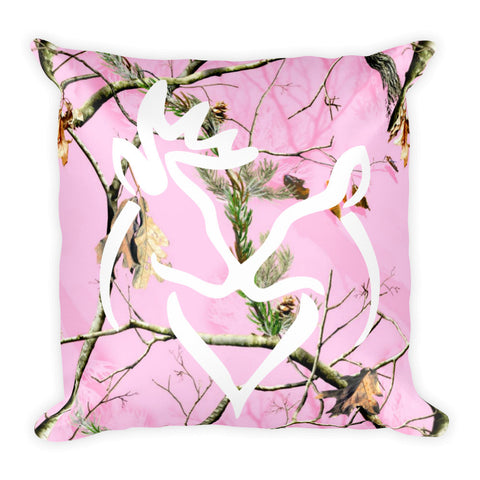 Buck and Doe Pink Pillow - Love Chirp Gifts
