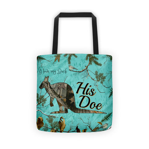 His Doe Kangaroo Camouflage Tote bag - Love Chirp Gifts