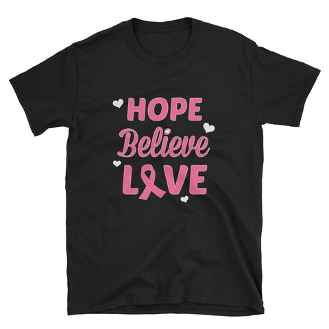 Hope Believe Love T-Shirt - Love Chirp Gifts