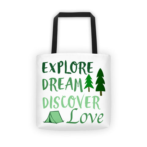 Explore, Dream, Discover & Love Tote bag - Love Chirp Gifts