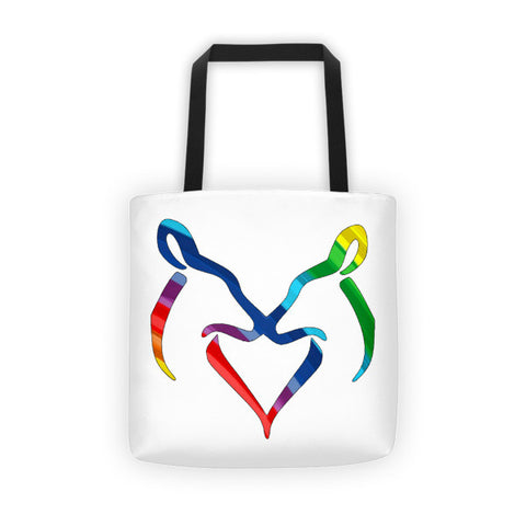 Rainbow Snuggling Does Tote Bag - Love Chirp Gifts