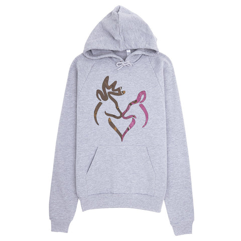 Snuggling Buck and Doe Camo Hoodie - Love Chirp Gifts