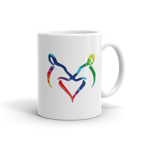 Rainbow Snuggling  Does Mug - Love Chirp Gifts