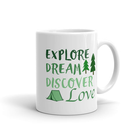 Explore, Dream, Discover, Love Mug - Love Chirp Gifts