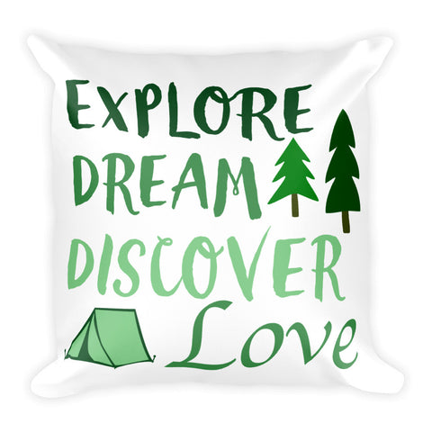 Explore, Dream, Discover, and Love Pillow - Love Chirp Gifts