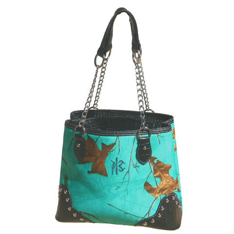 Realtree Camo Handbag in SeaGlass Blue - Love Chirp Gifts
