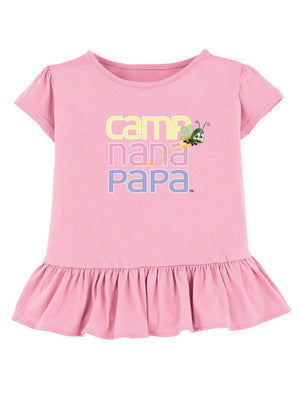 Ruffled Camp Nana Papa Tees feat. Flash the Firefly