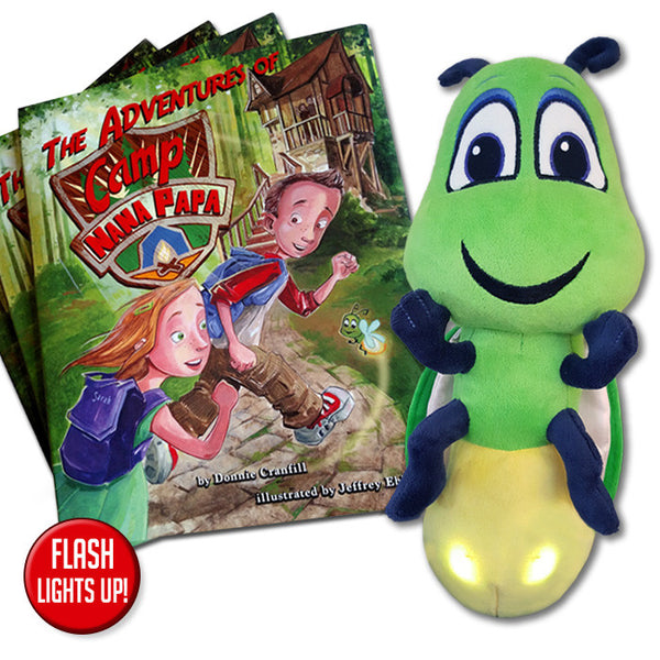The Adventures of Camp Nana Papa and 14-Inch Light-Up Flash the Firefly Set