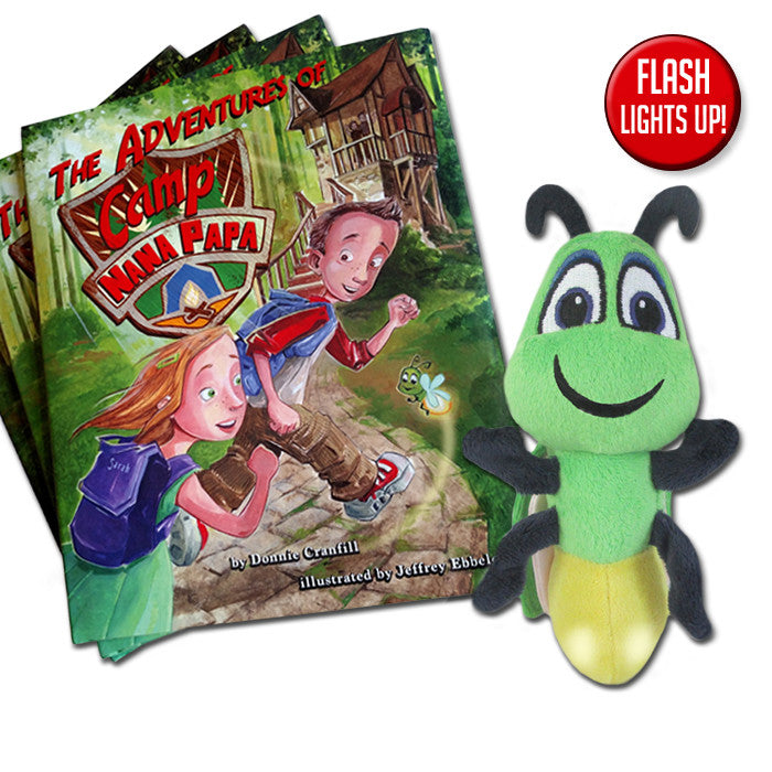 The Adventures of Camp Nana Papa and 8-Inch Light-Up Flash the Firefly Set