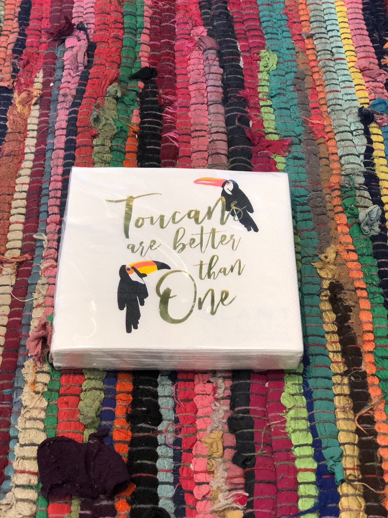 Toucans Are Better Than One - napkins