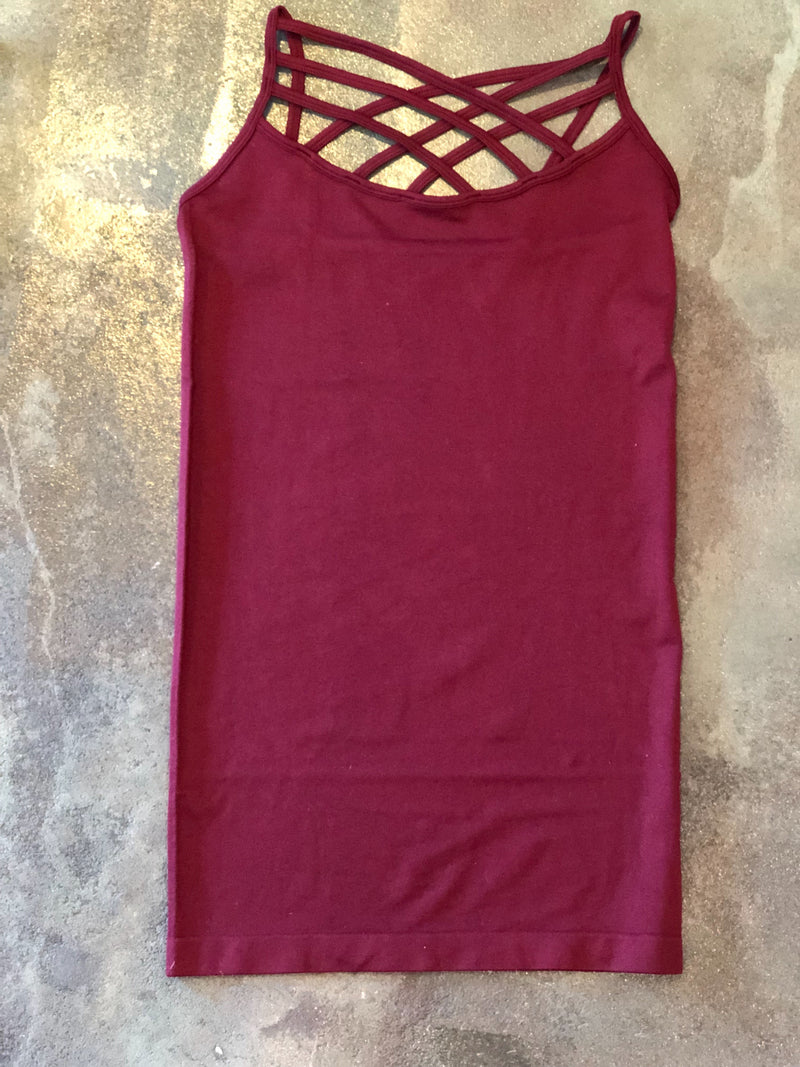 Strappy Criss Cross Tank Top (multiple colors available)