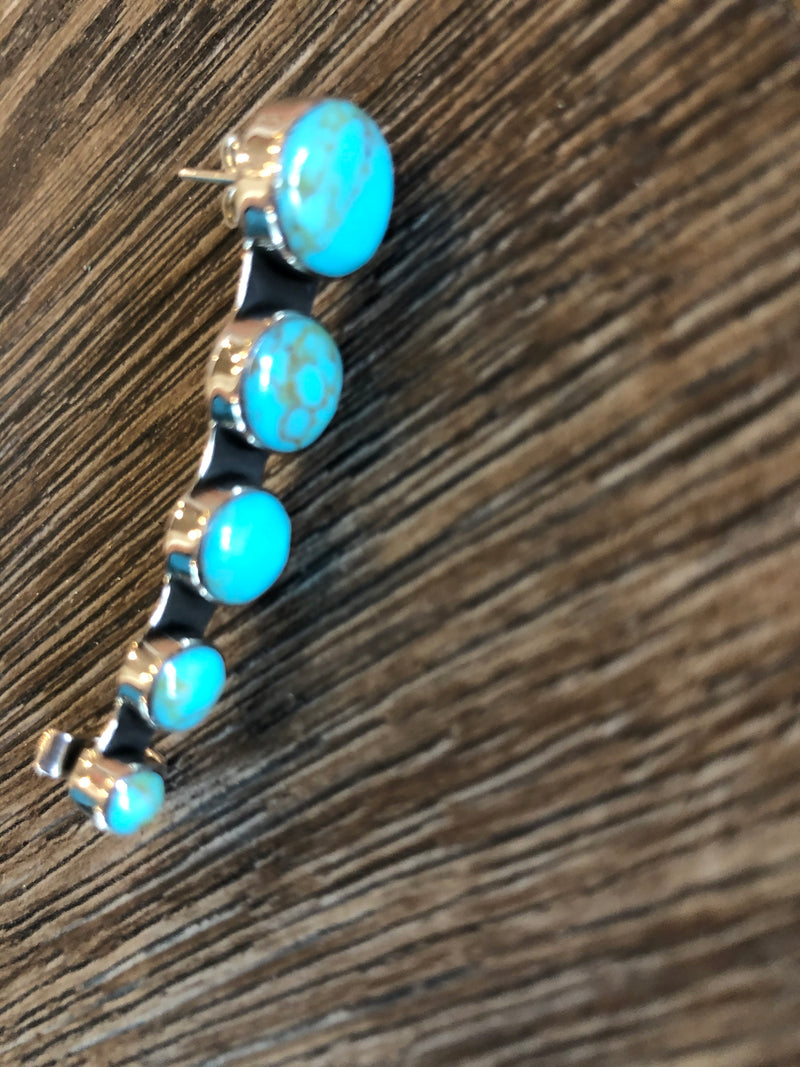 Genuine Kingman Turquoise Ear Crawler