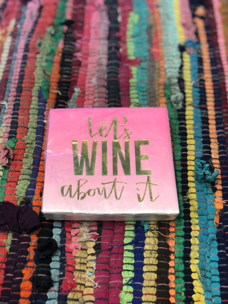 Let's Wine About It - napkins