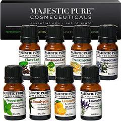 Majestic Pure Aromatherapy Essential Oils Set of Top 8