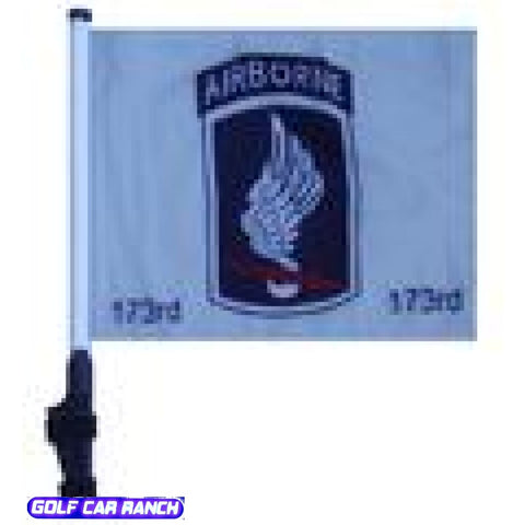 173Rd Airborne Golf Cart Flag