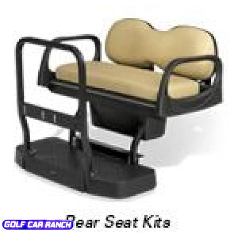 E-Z Go Rxv Rear Seat Kits - Max5 Double Take Taupe Kit
