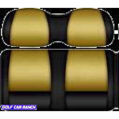 Doubletake Fanatic Series Deluxe Seat Cushions - E-Z Go Rxv Blk/gld / Front Custom Sets