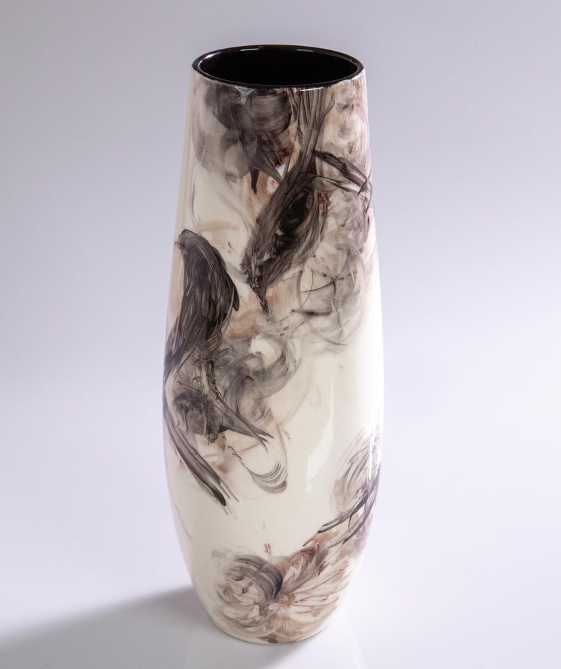 Watercolor Vase by Pablo Luzardo - Black #1