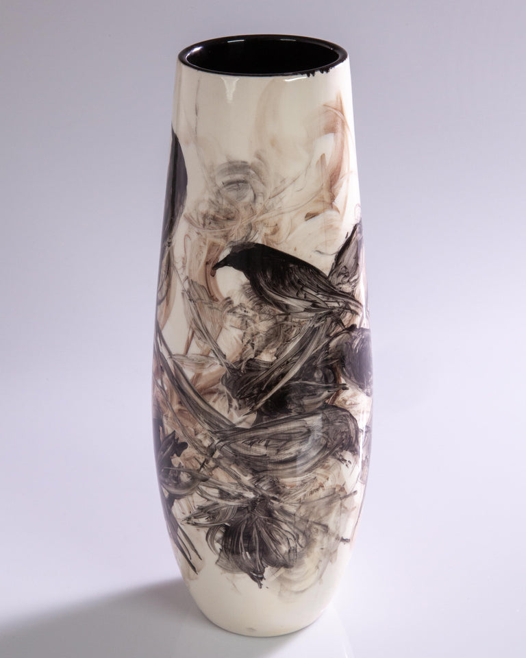 Watercolor Vase by Pablo Luzardo - Black #3