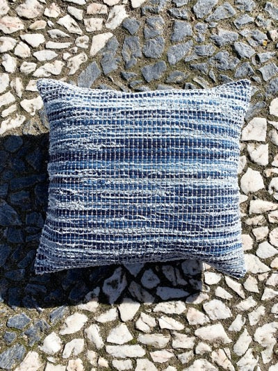 Casa Cubista Denim Pillow