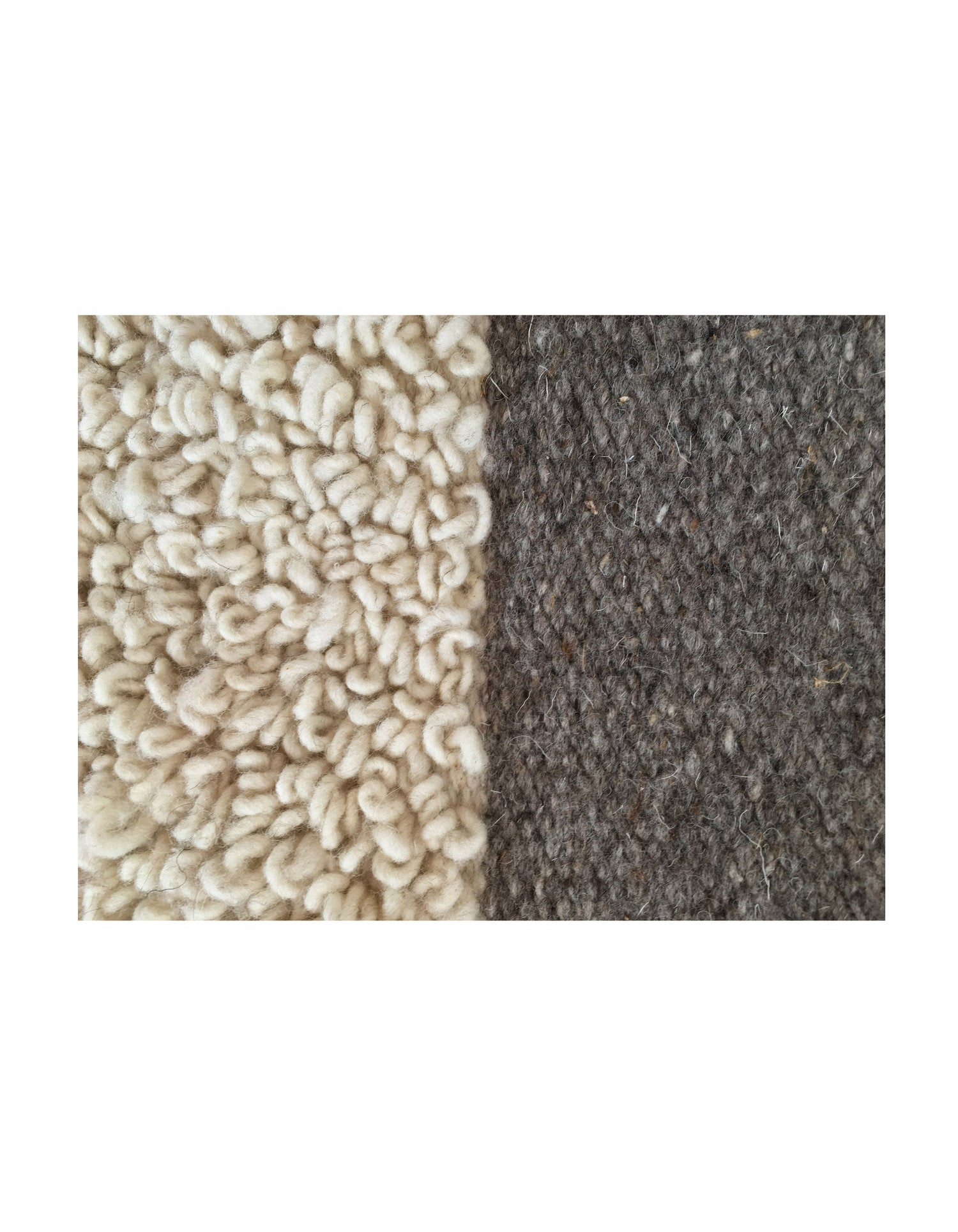 Curly Natural & Grey Rug