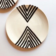 Casa Cubista Graphic Tableware - Double Chevron Plate