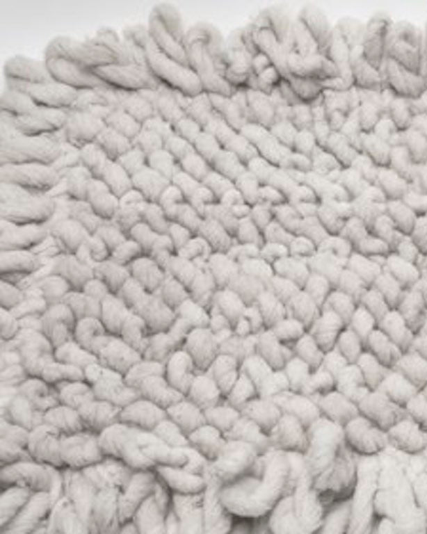 Handwoven wool rug natural with knots