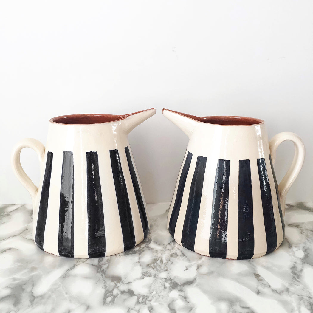 Casa Cubista Striped Pitcher