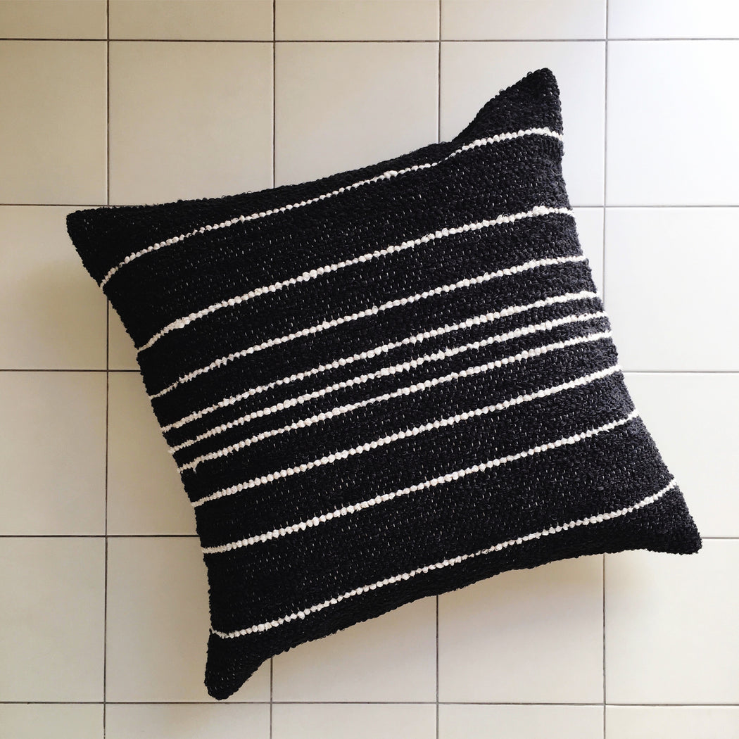 Casa Cubista Thin Stripe Pillow - Charcoal