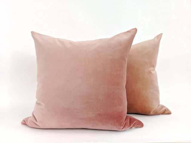Hand-painted velvet pink pillow