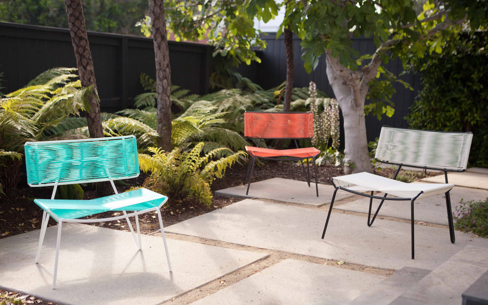 Outdoor PVC chairs White Coral Mint