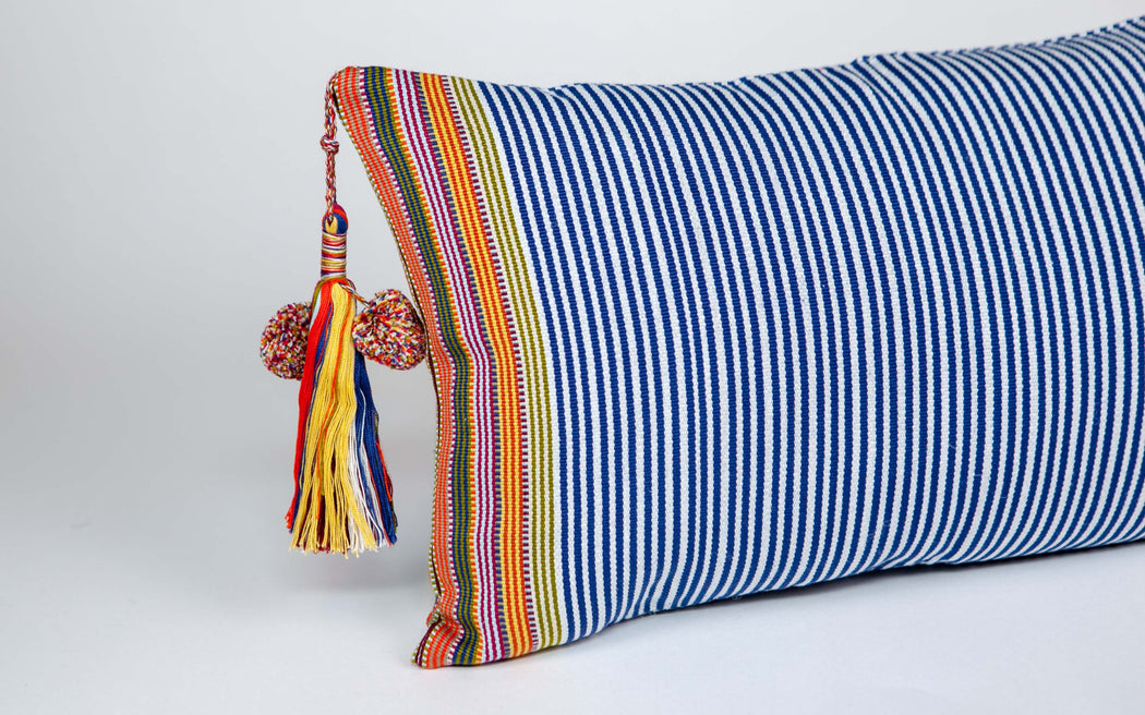 SanCri Blue Stripe Pillow