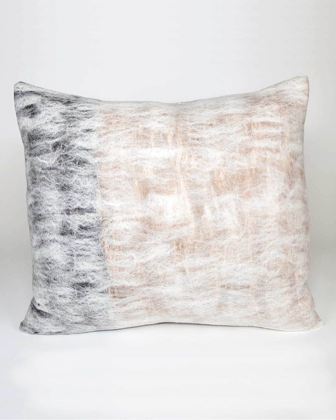Nuno Hand Felted Reversible Pillow - Natural