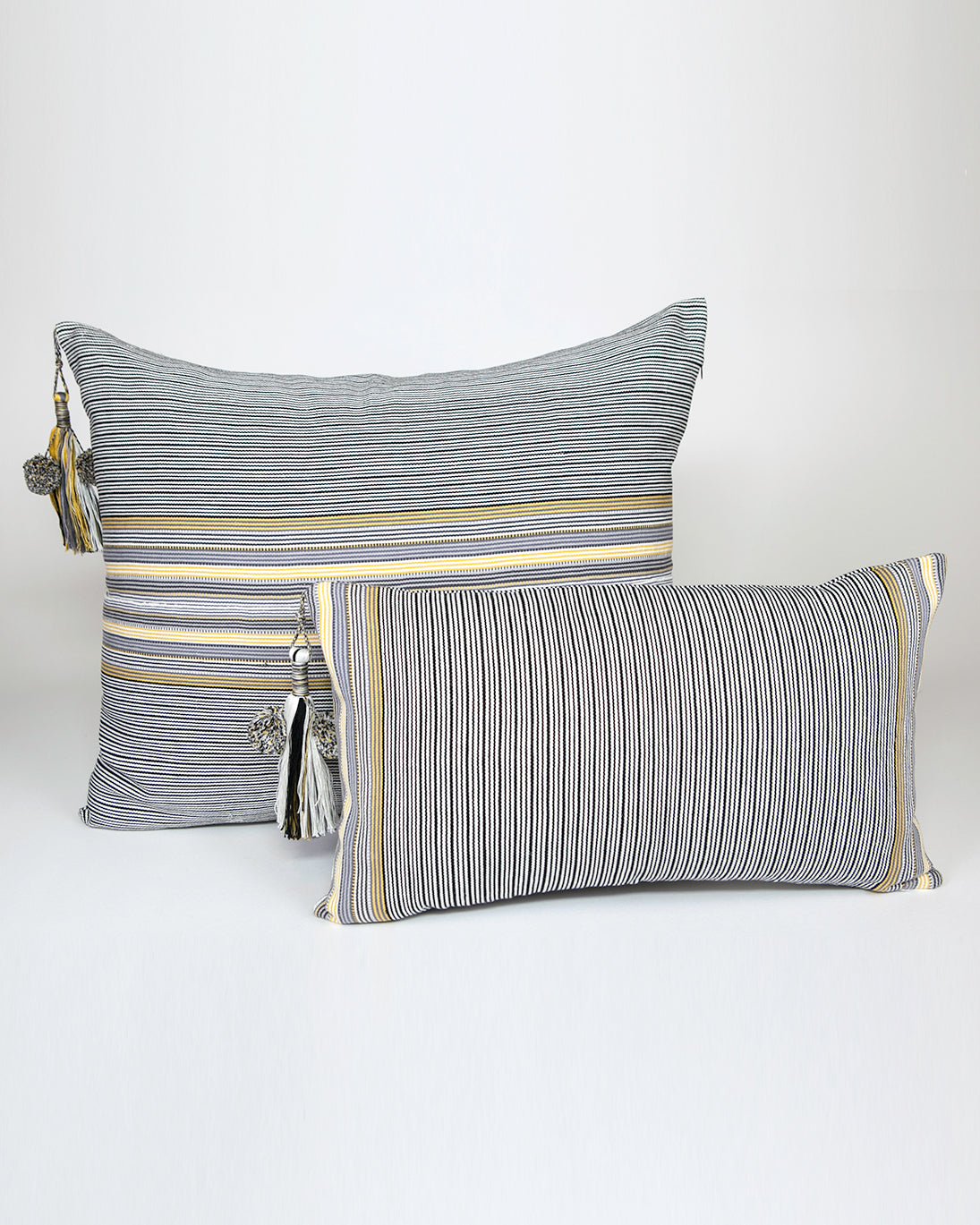SanCri Thin Grey Stripe Pillow