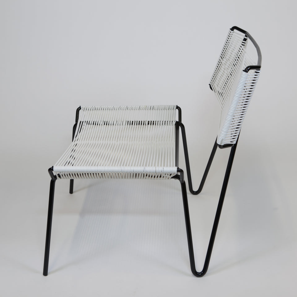 Outdoor PVC chair White