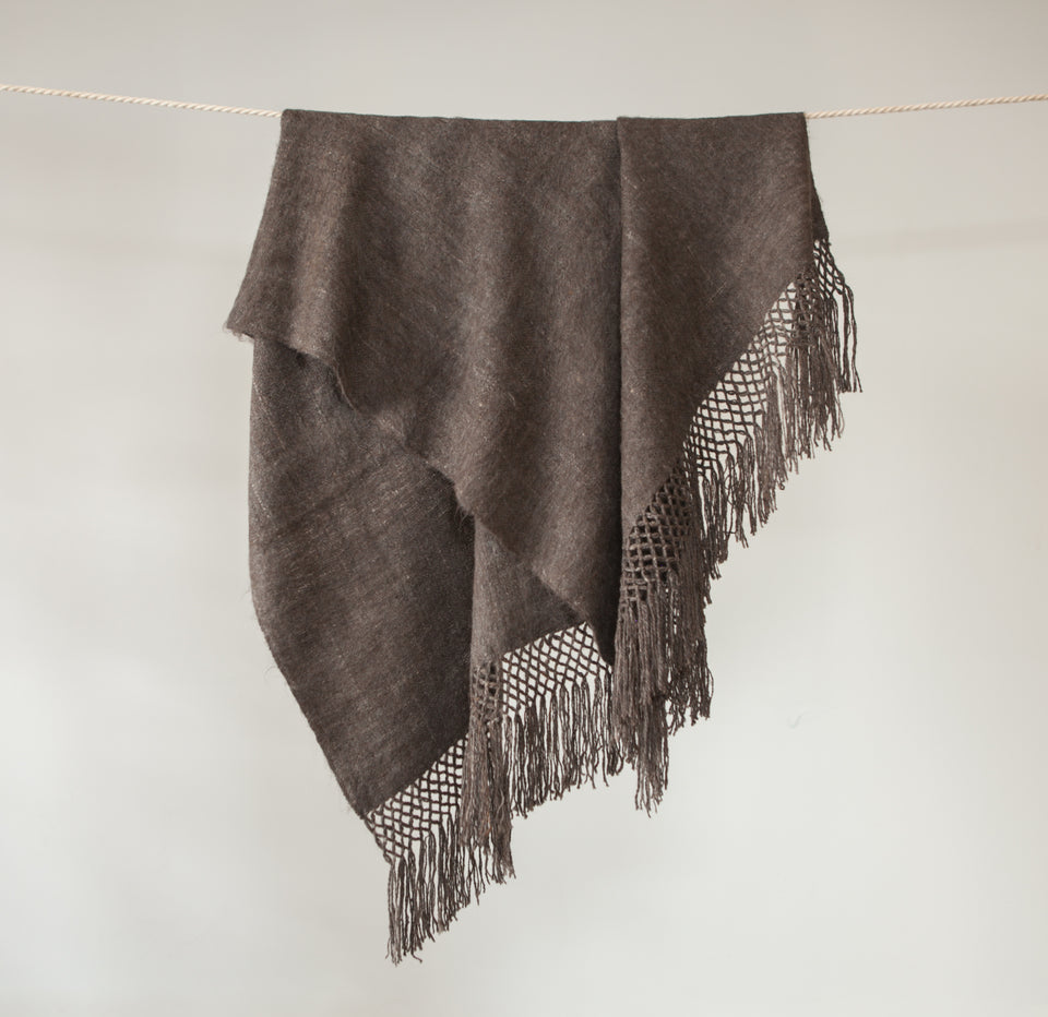 Awanay Llama Throw - Charcoal